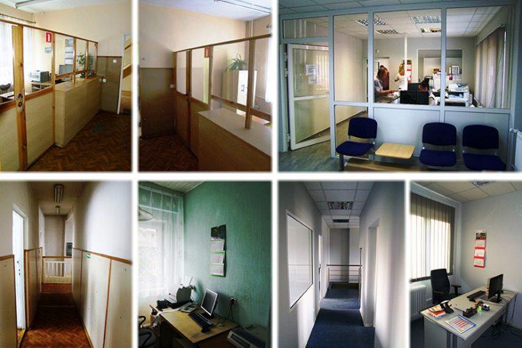 Budynek administracyjny wewnątrz przedipomodernizacji