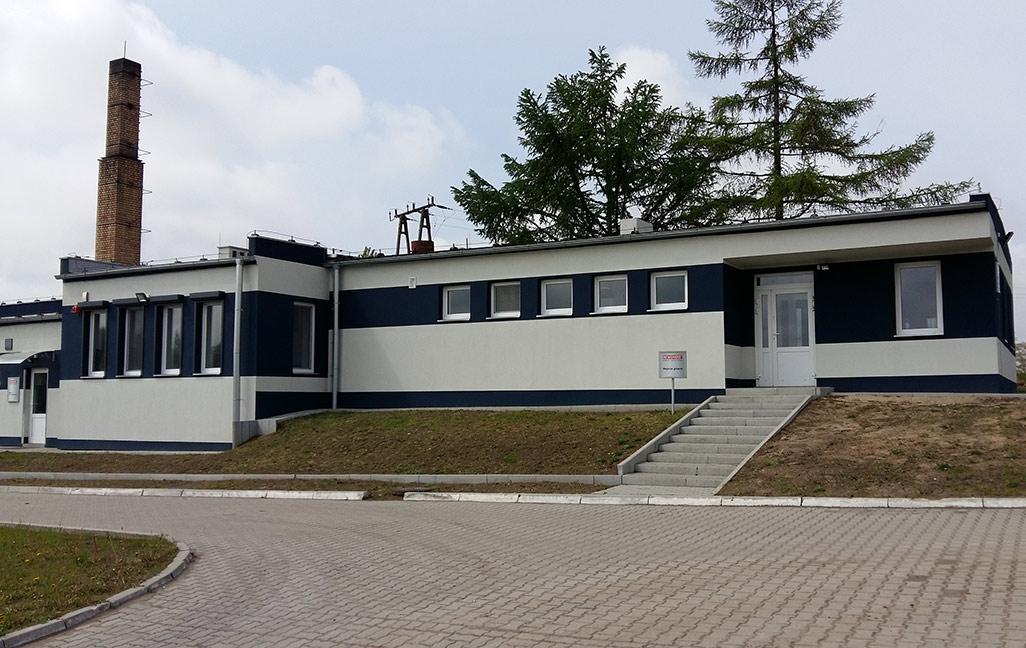Budynek oczyszczalni pomodernizacji