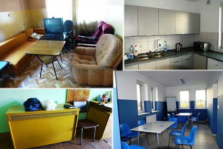 Pomieszczenia socjalne naoczyszczalni przedipomodernizacji