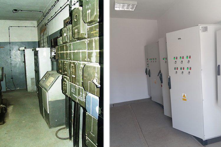 Pomieszczenie sterowni przedipomodernizacji